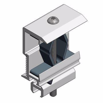 Afbeeldingen van Alu eindklem voor alu profiel - T30 - klembereik 28-50mm