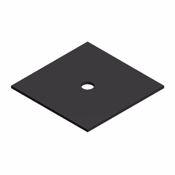 Afbeeldingen van Rubber plaatje 40x40x1mm voor trapezium profiel