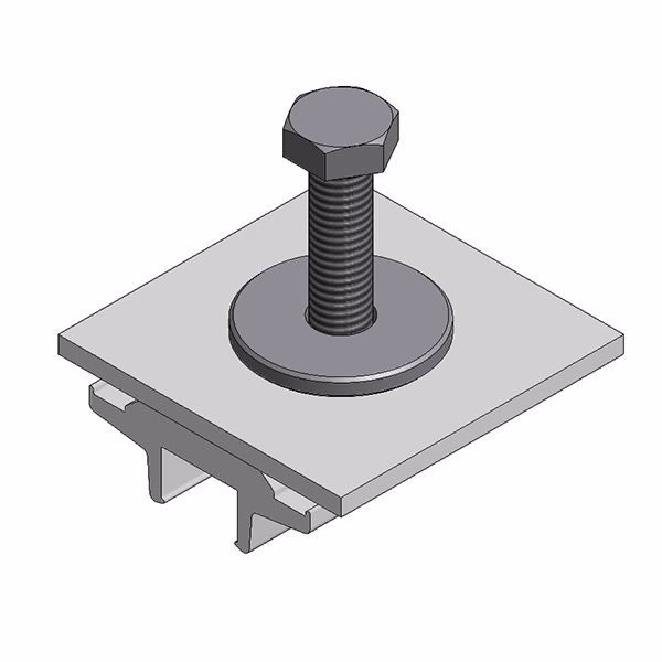 Afbeeldingen van Alu klem voor optimizer/ micro - voor Side+ en trapezium