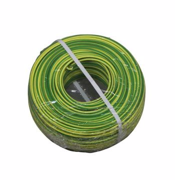 Afbeeldingen van 4mm² Aardedraad B2CA H07Z1-K groen/geel vertind 500m